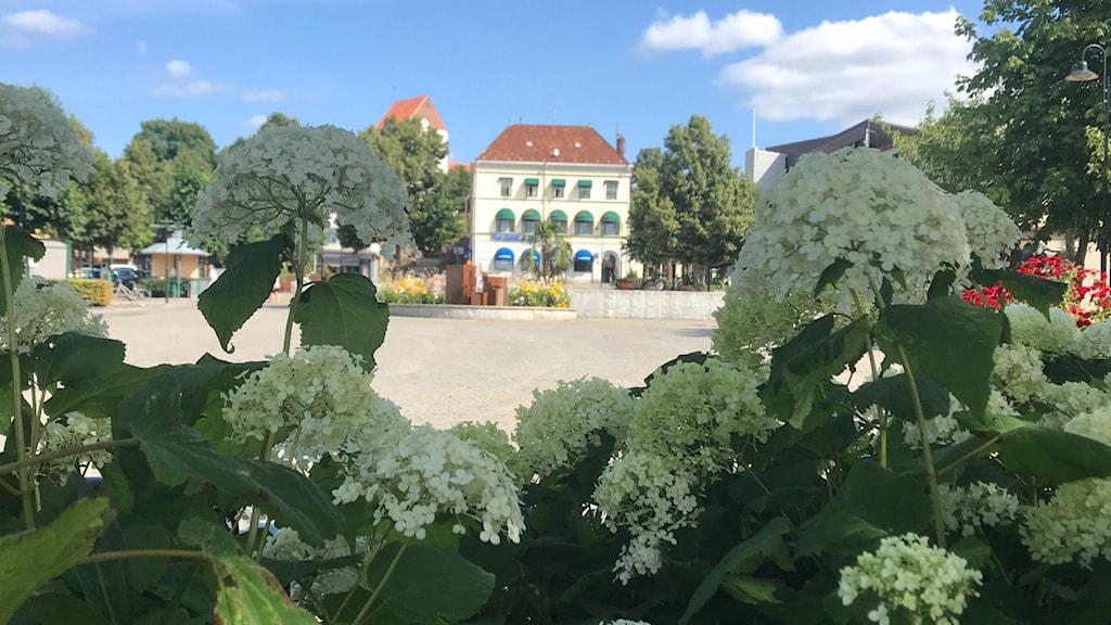 Stortorget i Ronneby sommartid
