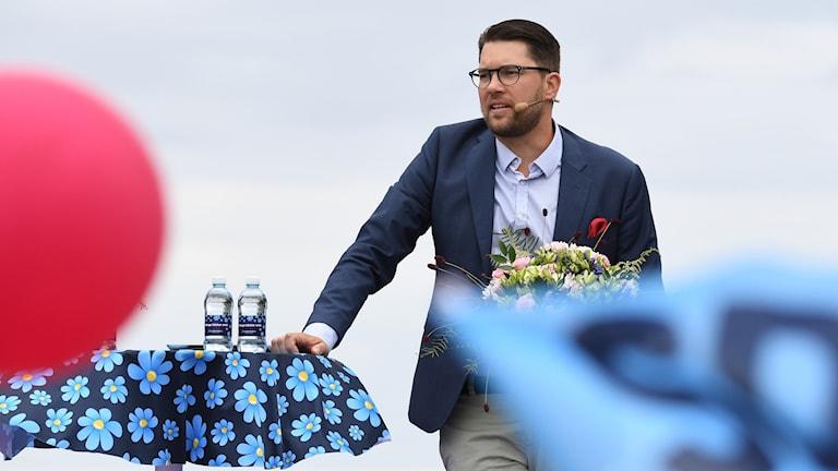 Jimmie Åkesson sommartalar i Sölvesborg