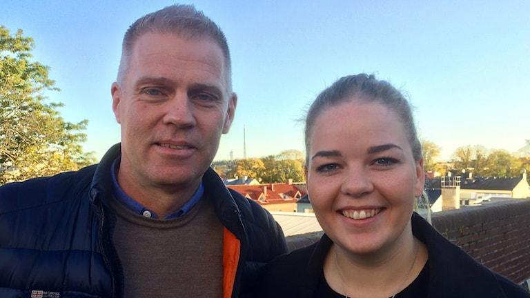 Tränare Conny Olausson och lagkapten Jeanette Langsager
