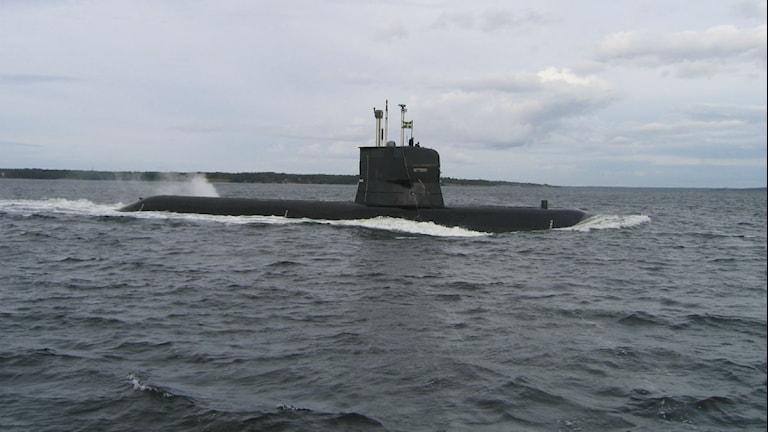 En ubåt i ytläge. Foto: Erik Ahlquist/Försvarsmakten