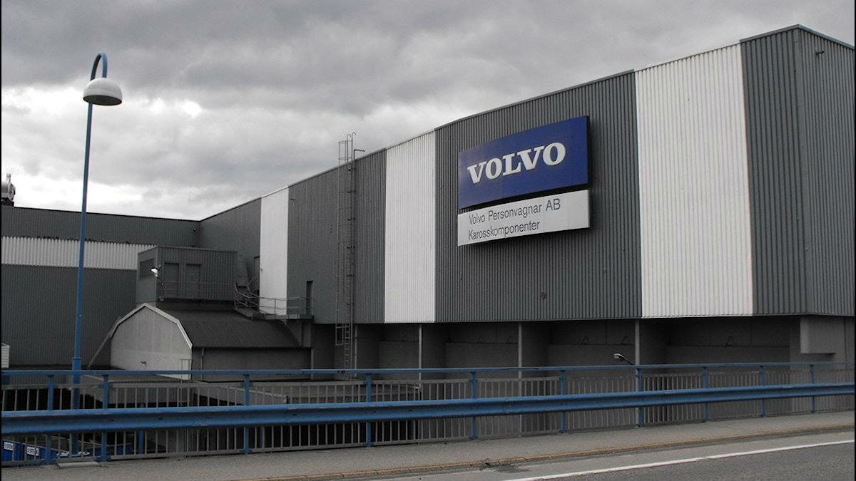 Volvos fabrik i Olofström. Foto: Daniel Kjellander/Sveriges Radio.