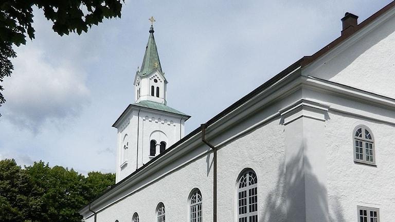 Kyrktornet på Augerums kyrka.