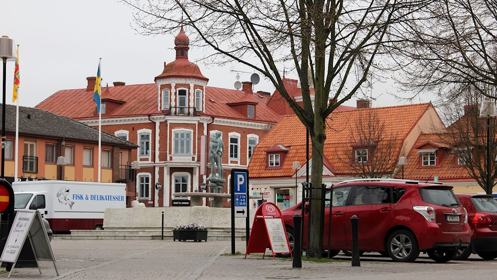 En bild på torget i Sölvesborg