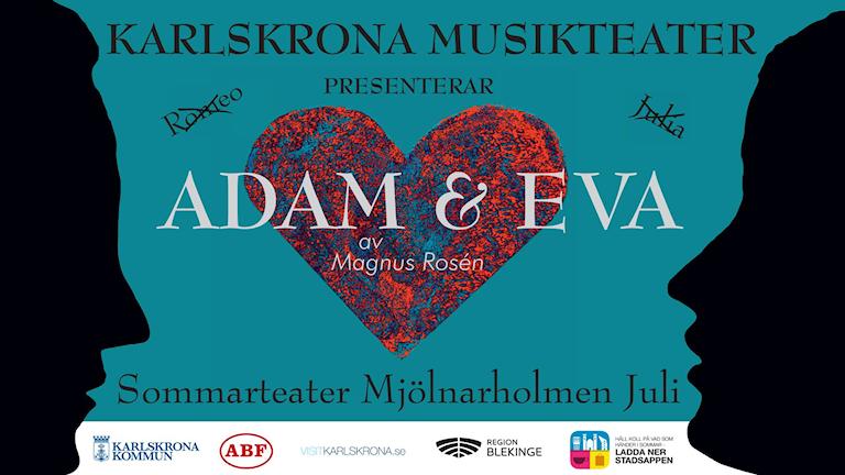 Karlskrona musikteater presenterar Adam och Eva.