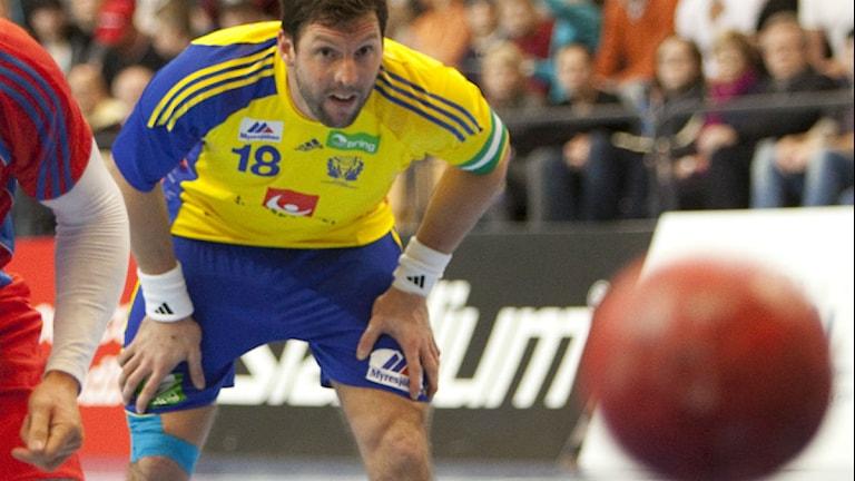 Handbollsspelaren Tobias Karlsson. Foto: Drago Prvulovic/Scanpix.