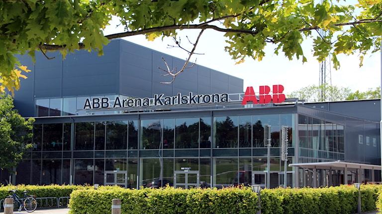 Fasaden på ABB Arena.