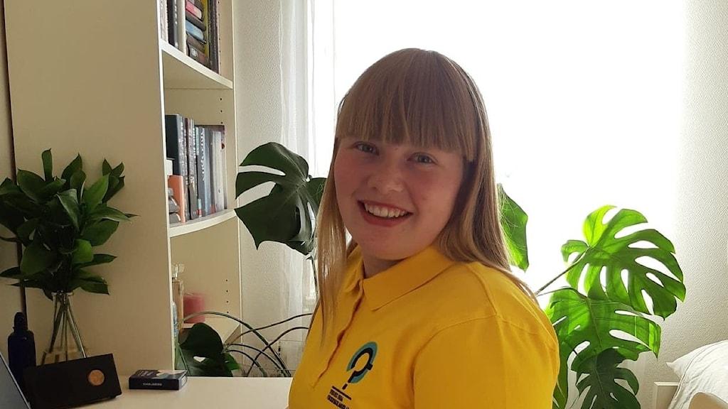 Erika Eriksson från Mörrum som kan vinna vad som kan beskrivas som VM för vattenfrågor, nämligen Stockholm Junior Water Prize.