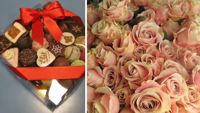Choklad och blommor