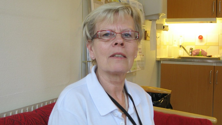 Birgitta Backlund är avdelningschef på blodcentralen i Karlskrona. Foto: David Spånberger/Sveriges Radio.