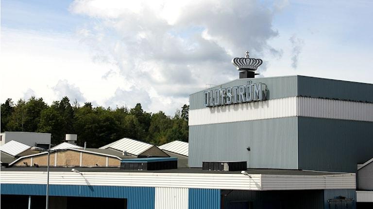 Vy över Volvofabriken i Oloström