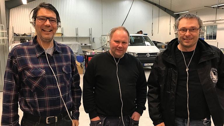 Fr vänster; Marco Baunder, Mats Bengtsson och Tony Karlsson