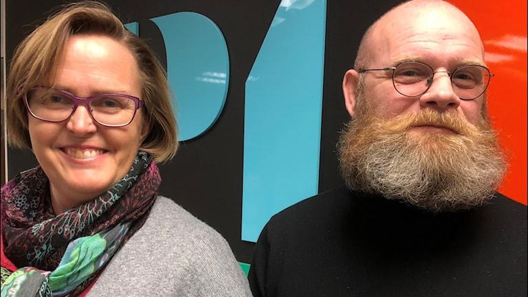 Victoria C Wahlgren på länsstyrelsen och Micael Ekdahl på F17.