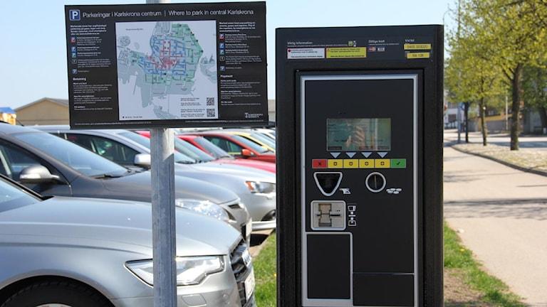 En parkeringsautomat. Foto: Stina Linde/Sveriges Radio.