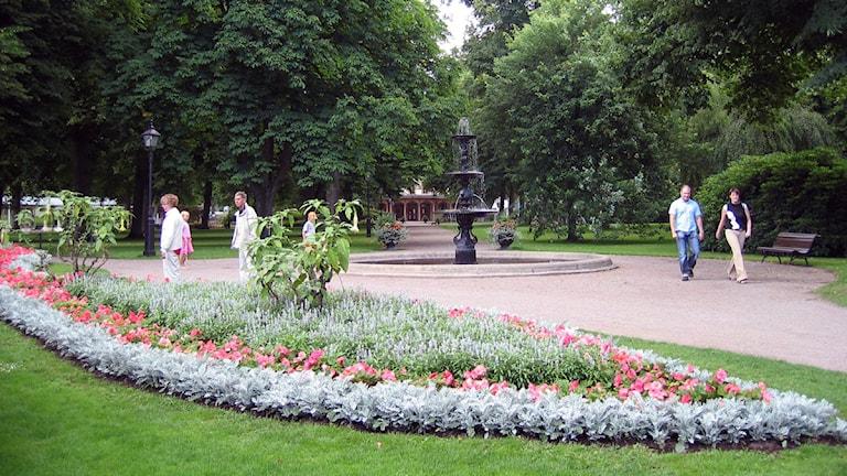 Brunnsparken i Ronneby. Foto: Sveriges Radio,