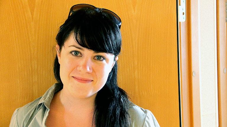 En porträttbild av moderaten Sophia Ahlin. Foto: Stina Linde/Sveriges Radio.