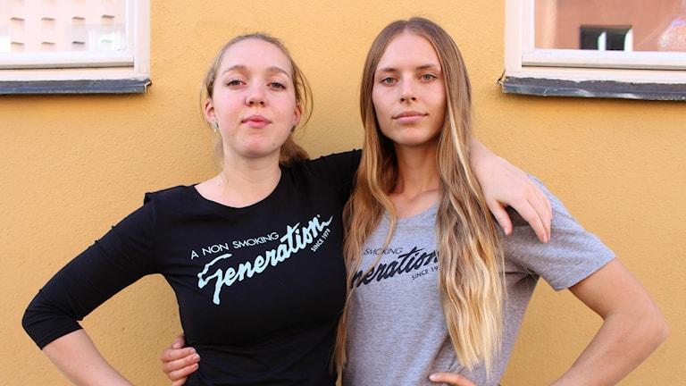 Malin Hellström och Nicole Tallberg
