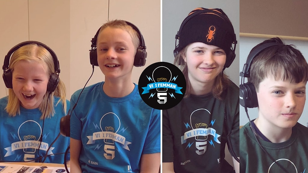 Folke Tyrberg, Emm Cassel från Karlskrona Montessorifriskola. Gabriel Löndahl och Thea Holmberg från Musikugglan 5A.