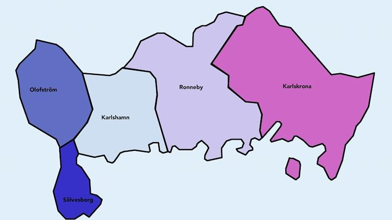 Kommuner I Blekinge Karta.Tankesmedja Vill Sla Ihop Kommuner I Blekinge P4 Blekinge