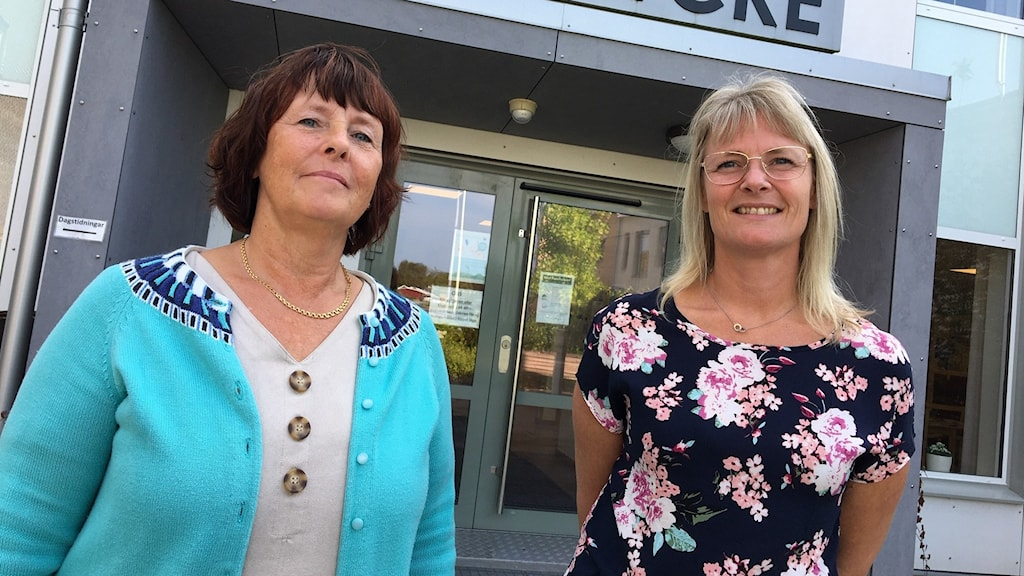 Jennicke Westrin och Linda Wallin, som är enhetschefer på äldreboendet Östralycke i Asarum