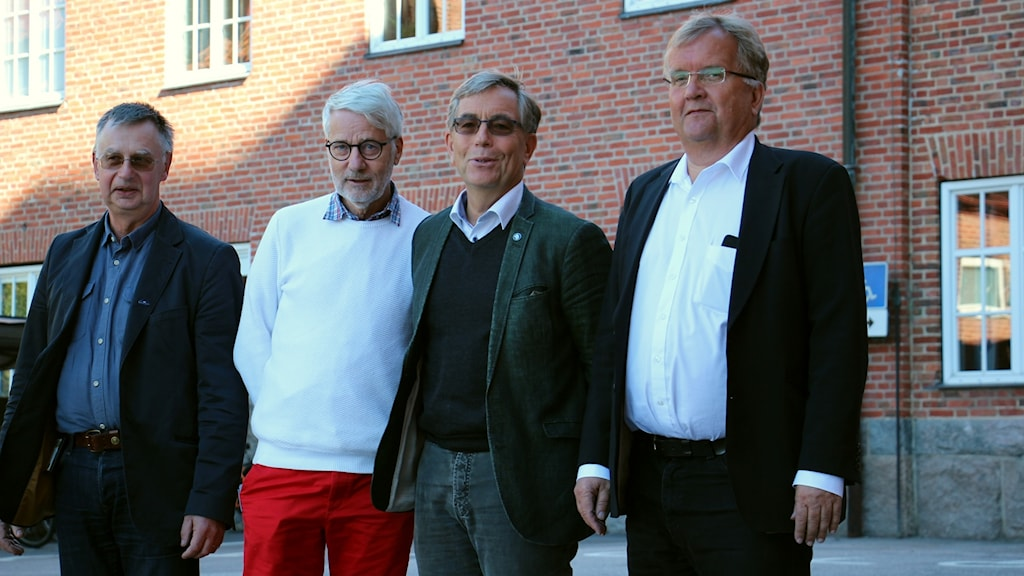 Lars Karlsson (C), Nils Ingmar Thorell (L), Alexander Wendt (M) och Erik Lindborg (KD).