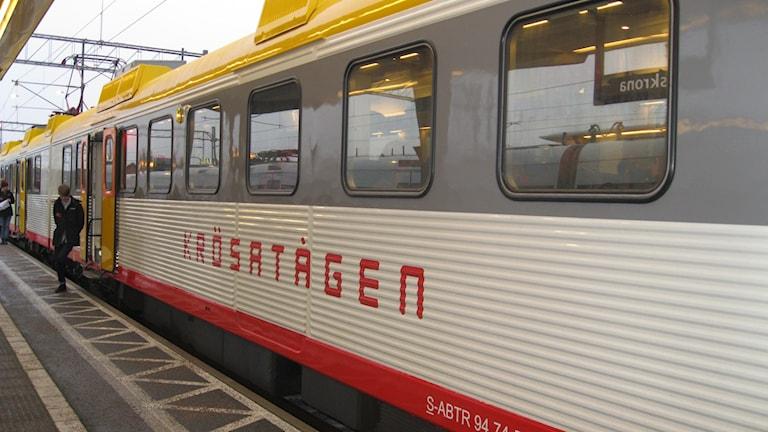 Krösatåget kan komma att stanna i Rödeby. Foto: Annelie Lundin/Sveriges Radio