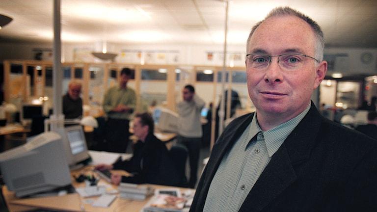Pressomudsmannen Ola Sigvardsson. Foto: Fredrik Persson/TT