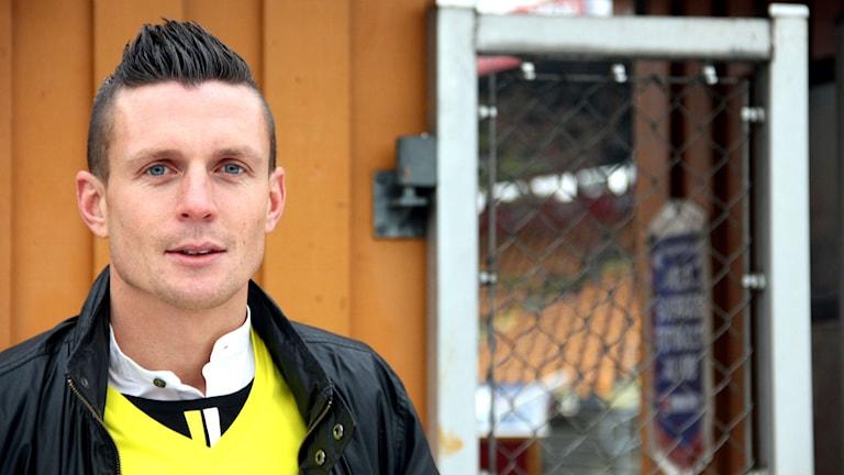 En porträttbild av Maif-spelaren Kristian Haynes. Foto: Stina Linde/Sveriges Radio