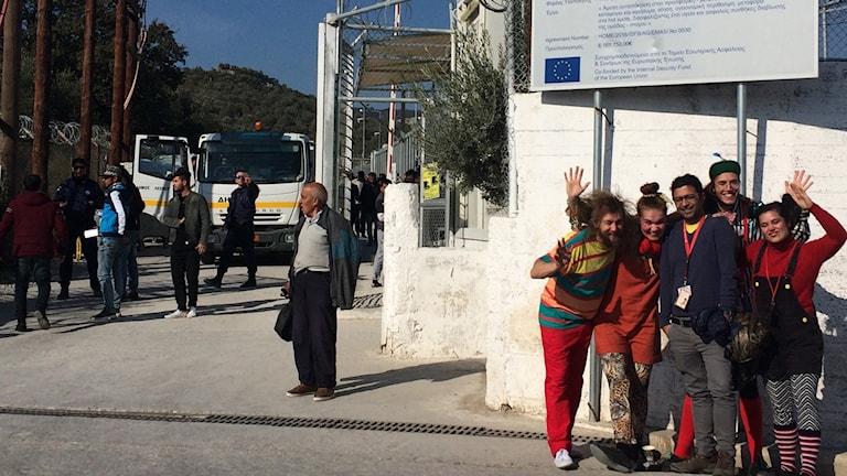 Clowner utan gränser Lesbos flyktingläger Ida Mårdhed