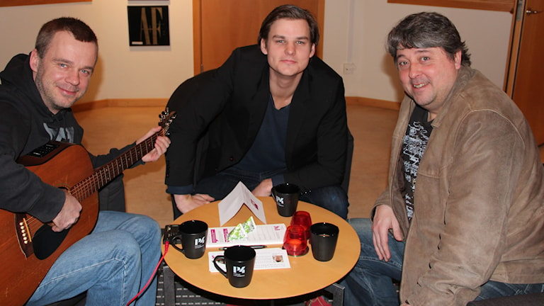 Johan Harding, Niklas Holtne och Håkan Windahl. Foto:Ingrid Elfstråhle/Sveriges Radio