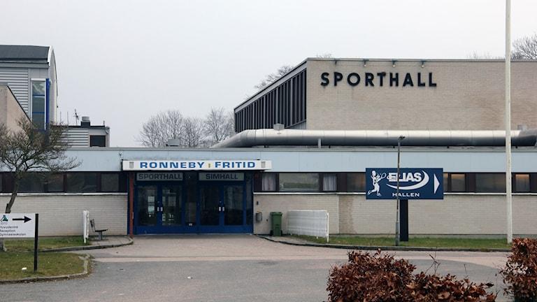 Sporthallen vid Knut Hahns gymnasieskola. Foto: Stina Linde/Sveriges Radio.