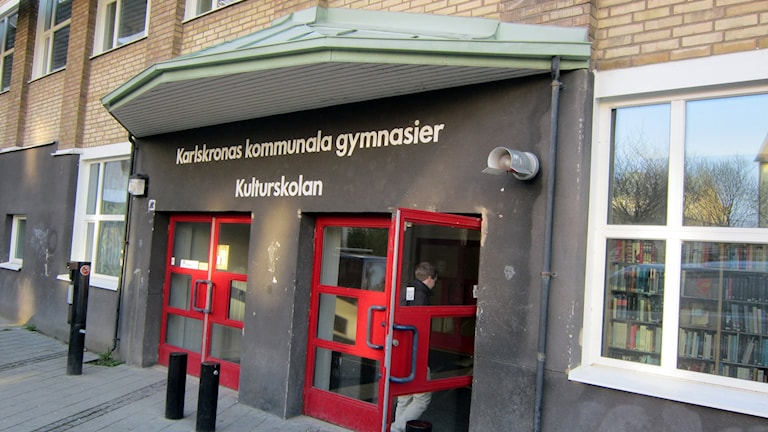 Törnströmska gymnasiet i Karlskrona. Foto: Henrik Olsson/Sveriges Radio.