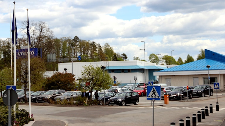 En bild på Volvofabriken i Olofström. Foto: Stina Linde/Sveriges Radio
