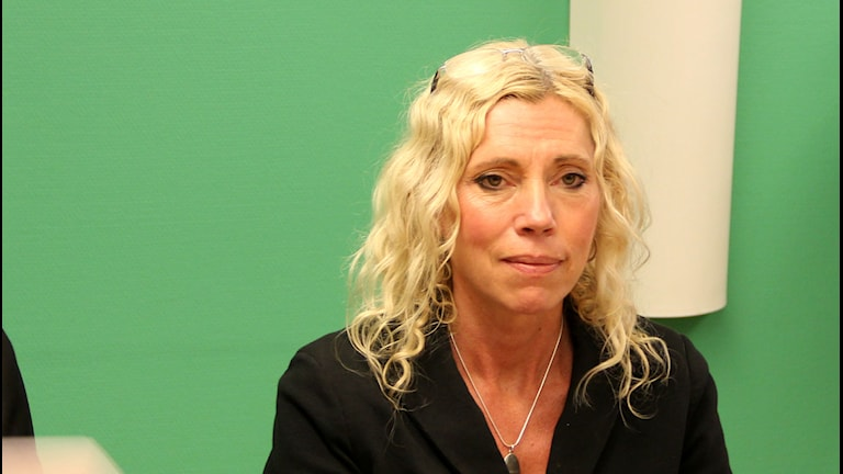 Maria Persson, chef för barn- och ungdomsförvaltningen i Karlskrona. Foto: Andrea Jilder/Sveriges Radio