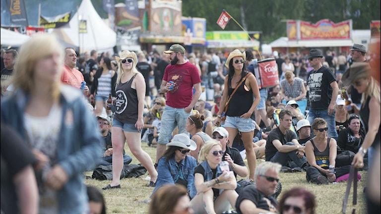 Publik på Sweden Rock Festival. Foto: Fredrik Sandberg / TT