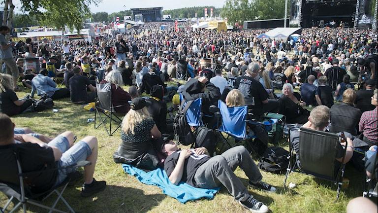 Publik på Sweden Rock. Foto: Fredrik Sandberg / TT