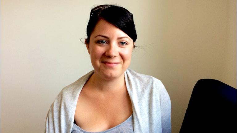 Karlskrona Prides ordförande Sophia Ahlin.
