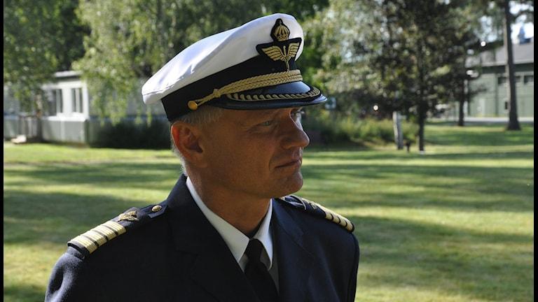 Överstelöjtnant Lars Bergström Foto:Kent Löving/F17
