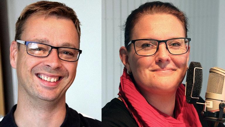 Lars Myrén och Anna Svahn i Fredagspanelen. Foto: Stina Linde/Sveriges Radio