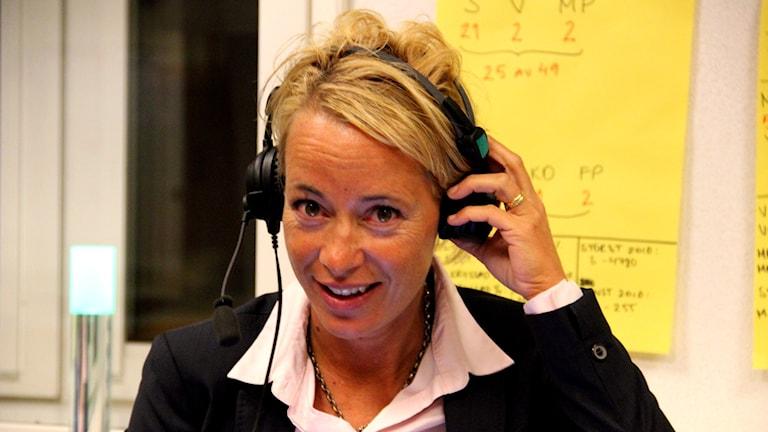 Moderaternas ledare i Karlskrona Camilla Brunsberg. Foto: Stina Linde/Sveriges Radio
