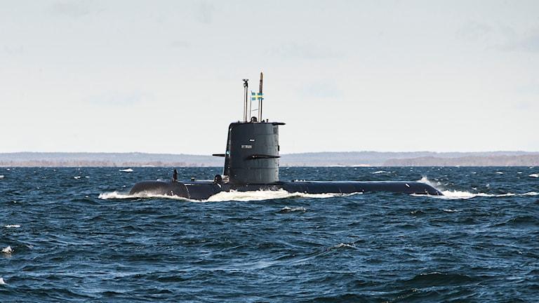 Ubåten HMS Halland. Foto: Saab.
