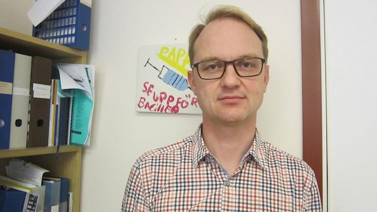 Linus Axelsson chef kirurgkliniken Blekingesjukhuset. Foto: Carina Melin/Sveriges Radio