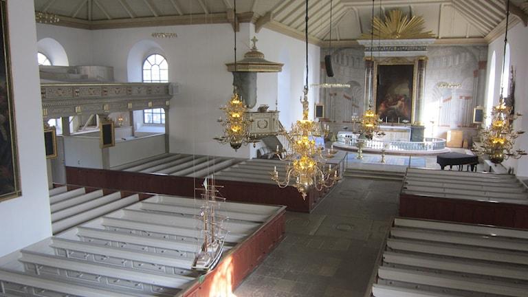 Interiör Carl Gustafs kyrka Karlshamn. Foto: Carina Melin/Sveriges Radio