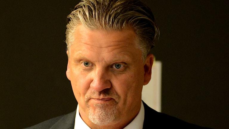 KHK:s coach Per Hånberg. Foto:Oscar Anderberg/Sveriges Radio