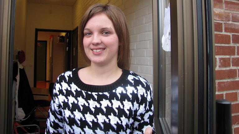 Magdalena Albinsson vill hjälpa andra unga anhöriga. Foto/ Monika Titor