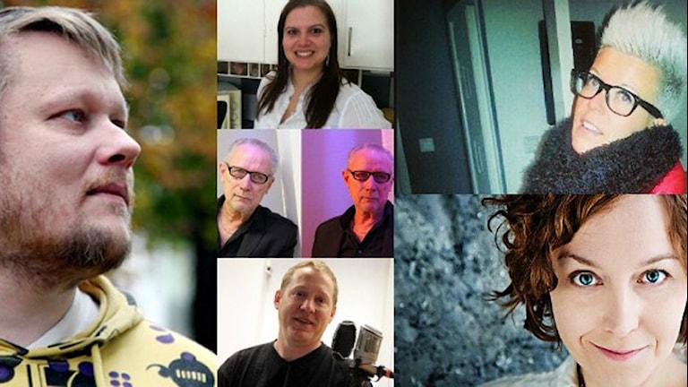 Ett collage med bilder på gäster i vår temavecka om psykisk hälsa