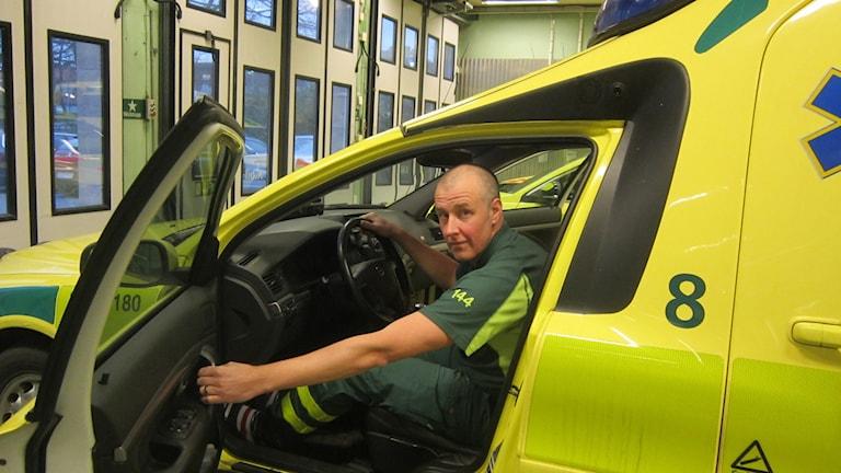 Ola Elmskog bitr. avdelningschef ambulansen Karlskrona. Foto: Carina Melin/Sveriges Radio
