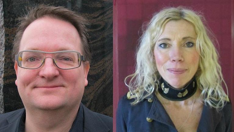 Jan Lennartsson (M) och Maria Persson, skolchef. Foto: Sveriges Radio
