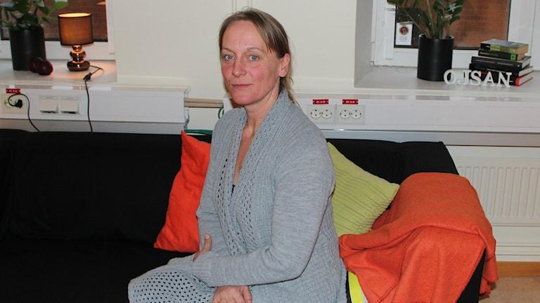 Maria Hjelm från Hästnäring i Blekinge. Foto: Ingrid Elfstråhle/Sveriges Radio