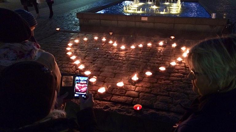 Ljusmanifestation i Karlskrona
