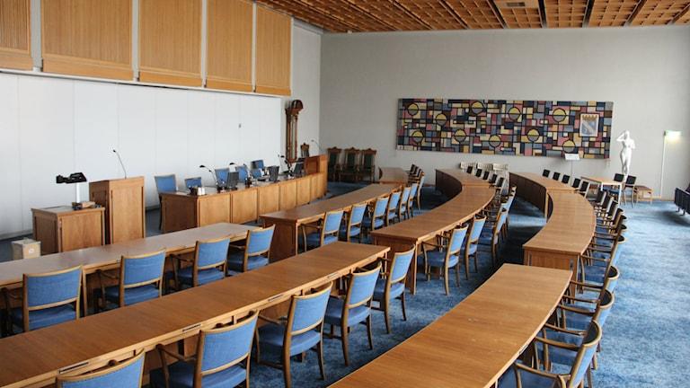 Fullmäktigesalen i Ronneby. Foto: Mikael Eriksson/Sveriges Radio